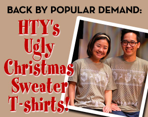 HTY's Ugly Christmas Sweater T-shirts – ON SALE NOW!